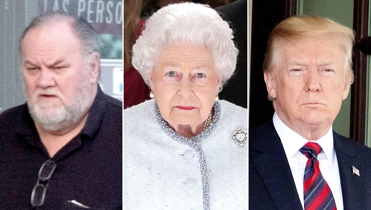 Thomas Markle, Queen Elizabeth II, and Donald Trump