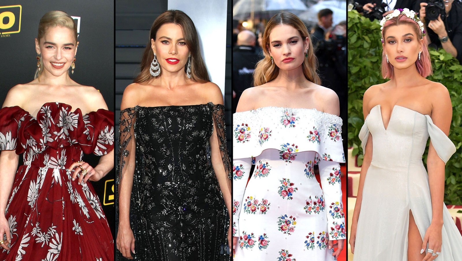 Emilia Clarke, Sofia Vergara, Lily James, Hailey Baldwin