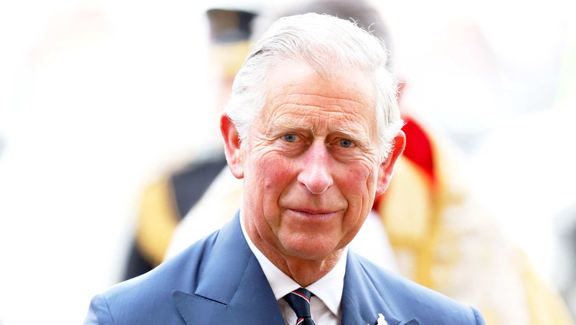 Prince Charles, Prince of Wales attends the 70th Anniversary of VE Day at Westminster Abbey in London, England.