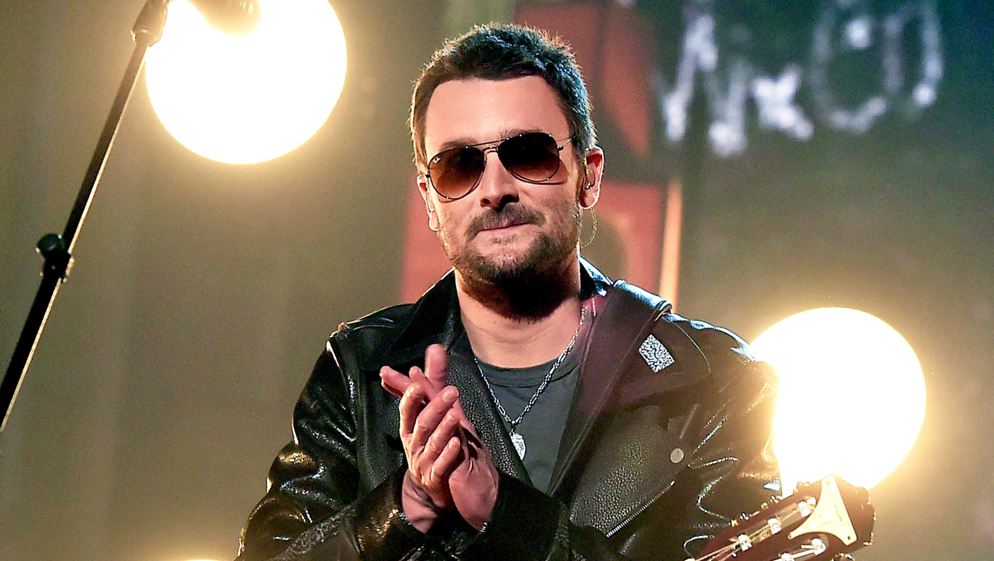 Eric Church performs onstage during the 51st Academy of Country Music Awards at MGM Grand Garden Arena in Las Vegas, Nevada.