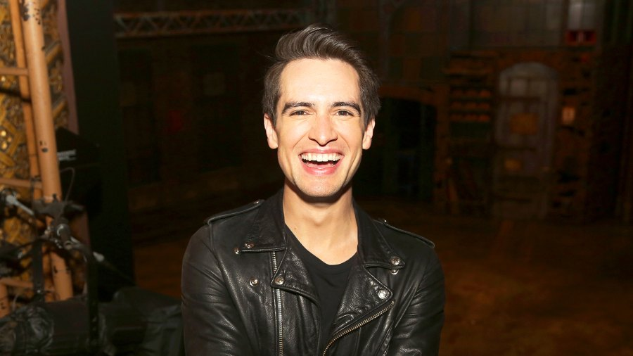 "Brendon Urie poses at a photo call for his broadway debut in the hit musical ""Kinky Boots"" on Broadway at The Al Hirschfeld Theatre in New York City."