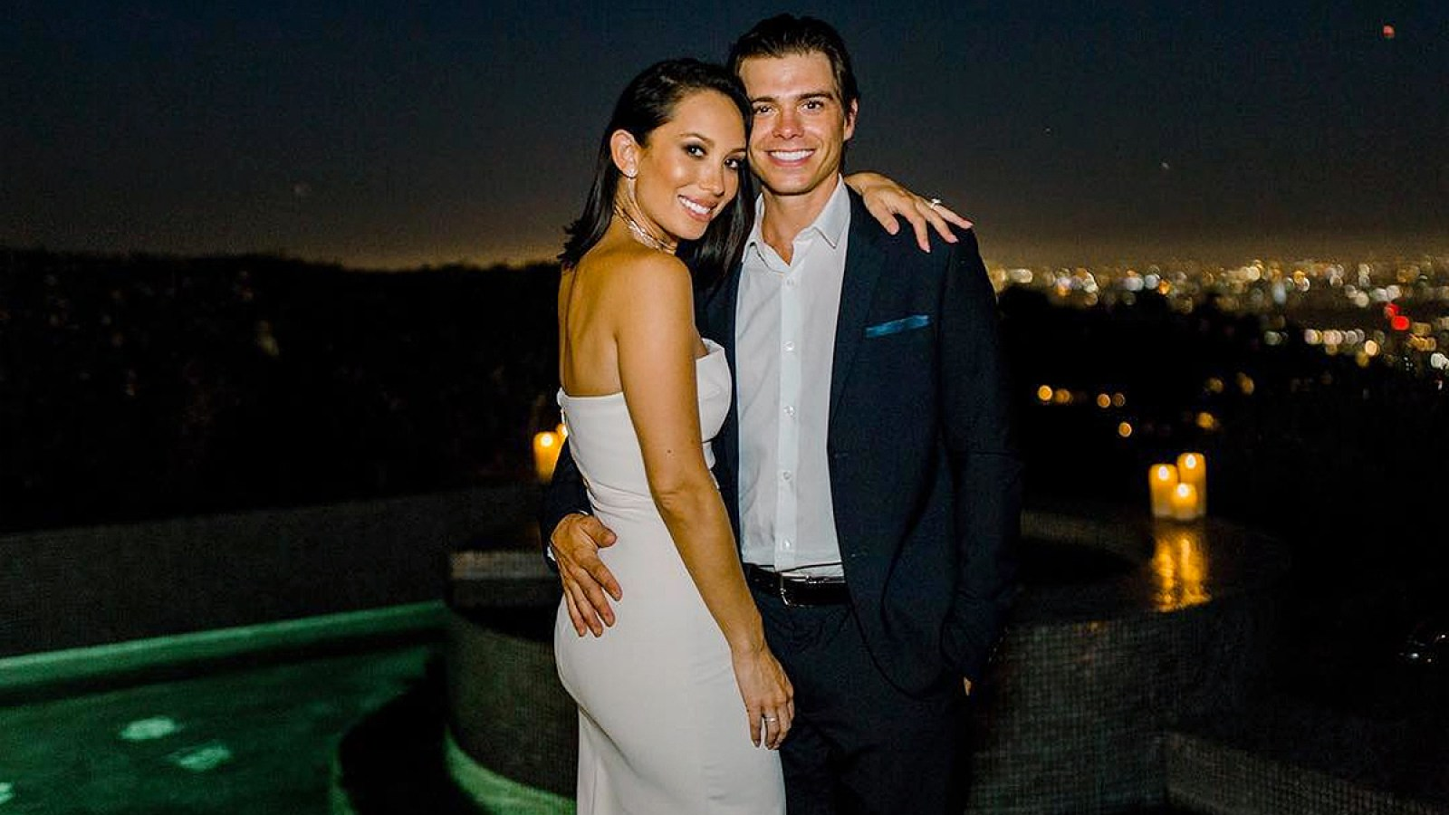 Cheryl Burke Matthew Lawrence Share Engagement Party Pics