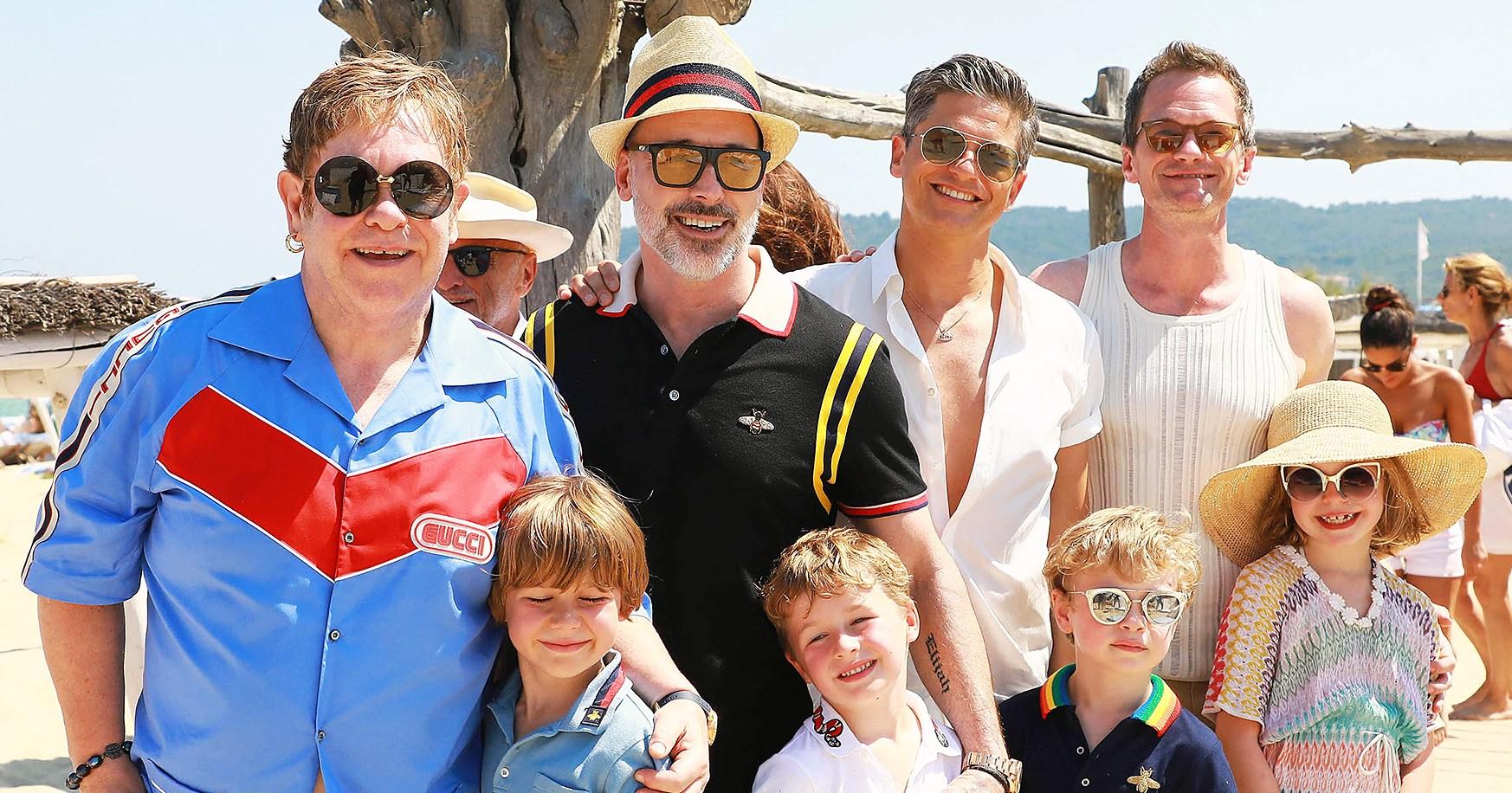 Elton John and Neil Patrick Harris' Family Vacation