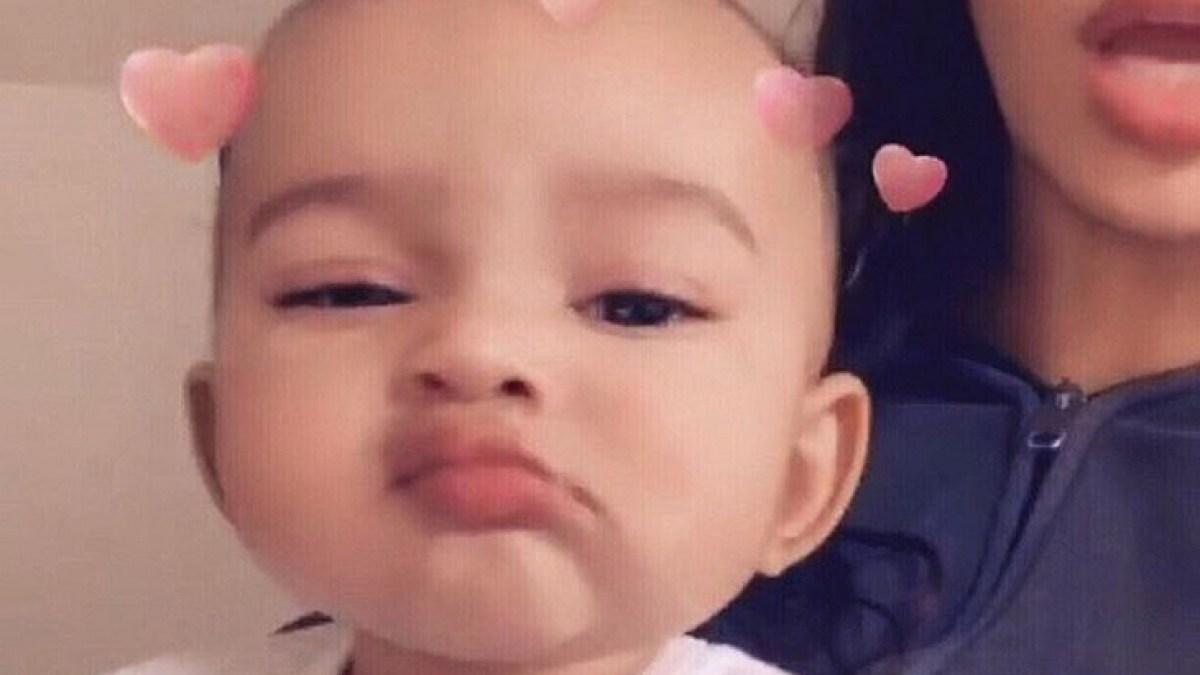 Kim Kardashian Shares Sweet Snap of Baby Chicago Serving Face