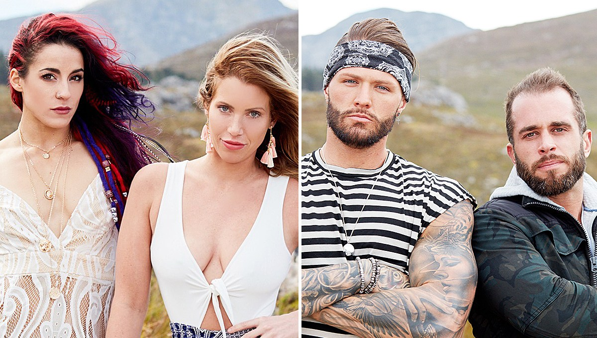 Cara Maria, Marie, Kyle, and Brad on The Challenge: Final Reckoning