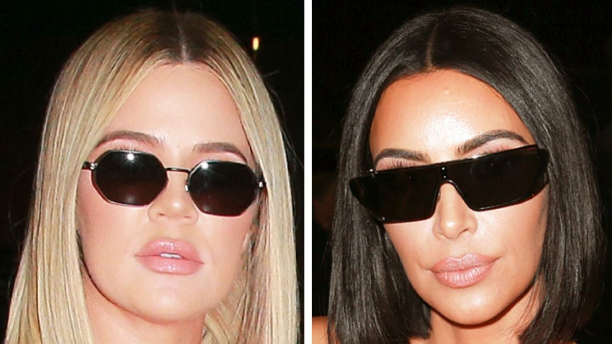 6634c92e0a0 Kim and Khloe Kardashian Prove the Blunt Bob Is the Haircut of Summer 2018