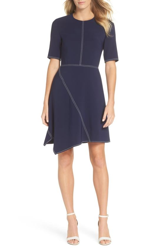 asymmetric work dress