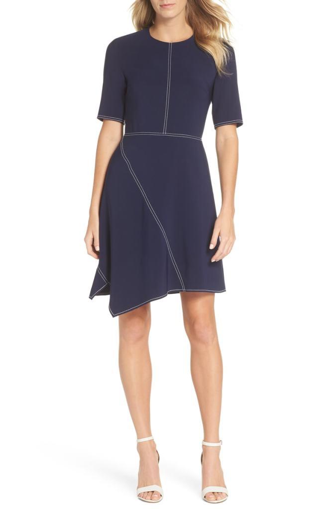 asymmetric work dress