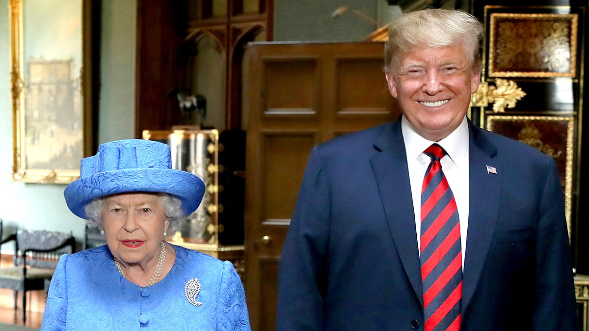 Image result for trump queen elizabeth obama brooch