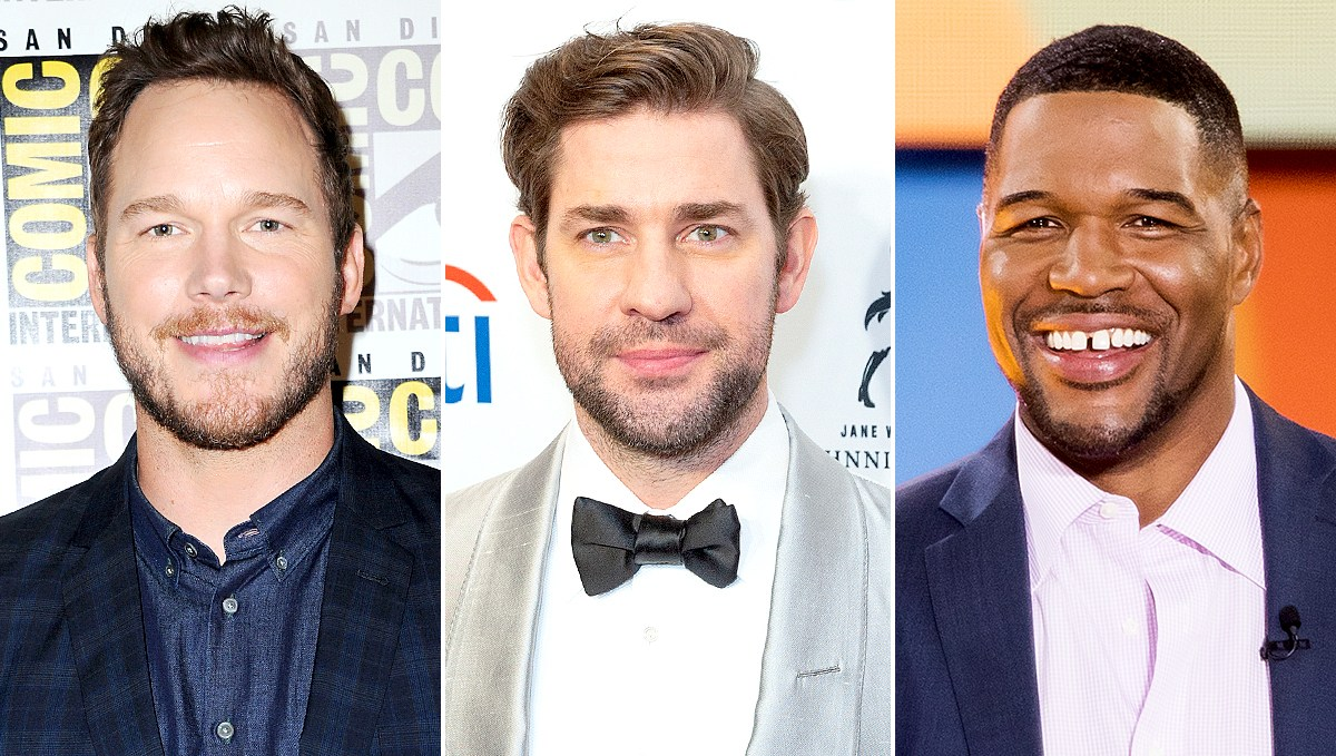 Chris-Pratt,-John-Krasinski-and-Michael-Strahan