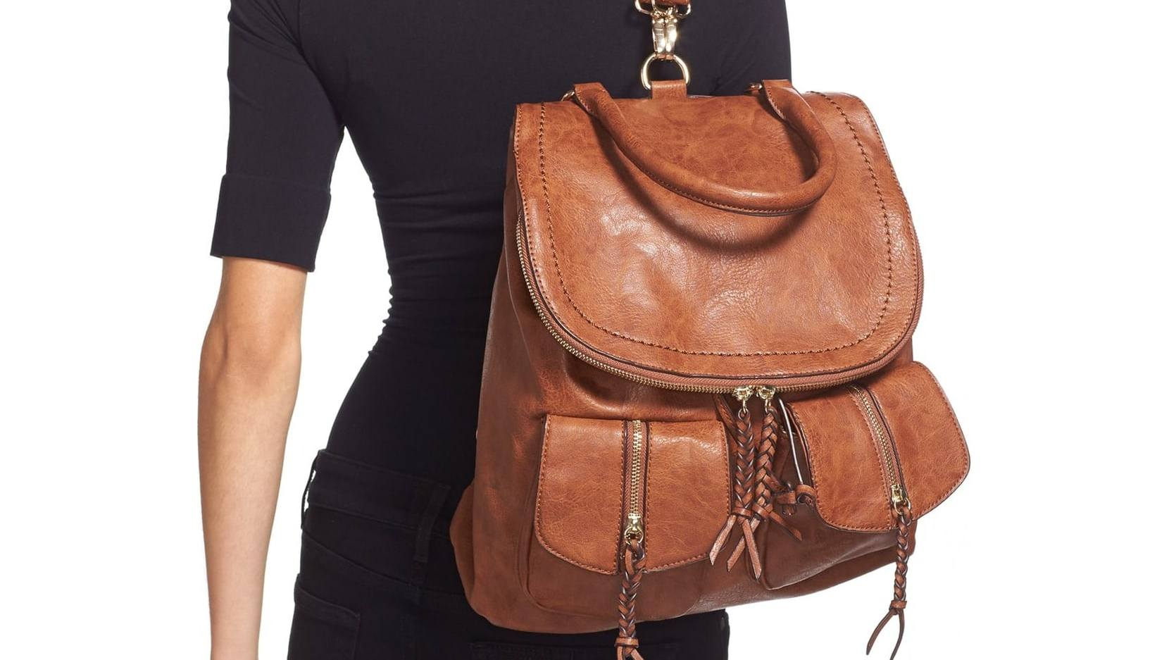 Emery Faux Leather Backpack