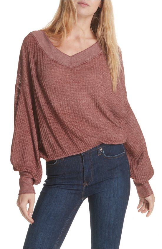 Free People South Side Thermal Top