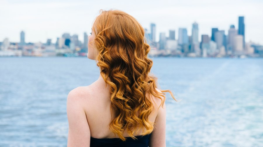 woman with waves