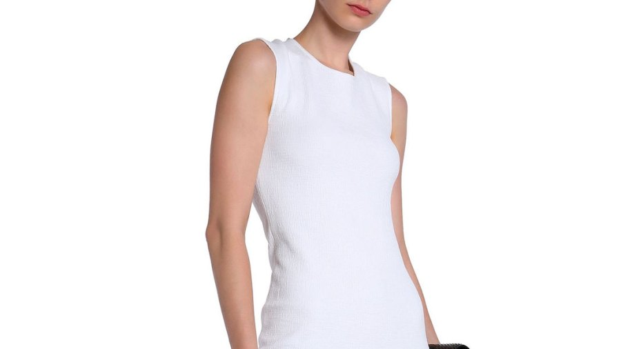 James Perse Cotton-Blend Slub Jersey Midi Dress