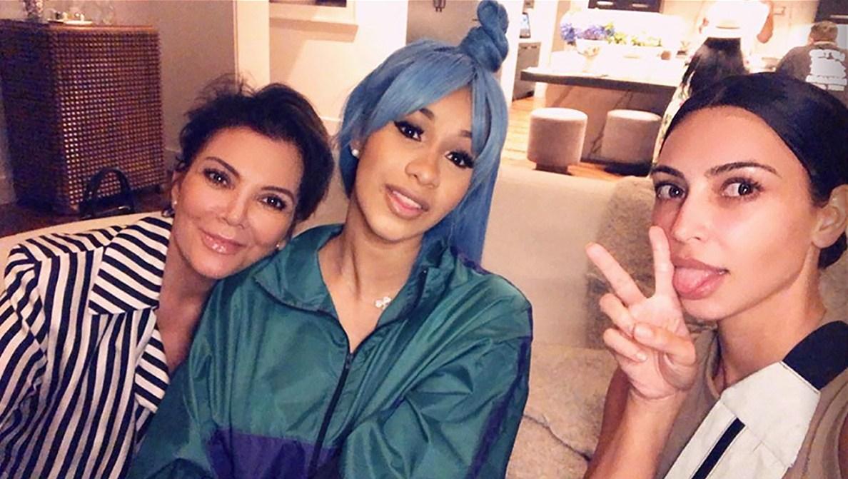 Cardi B Hangs Out With Kris Jenner And Kim Kardashian
