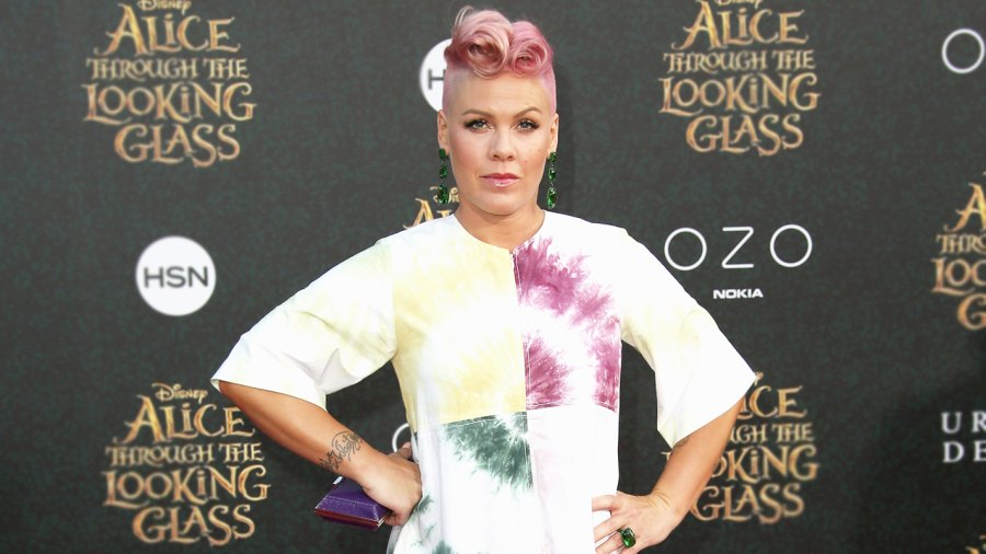 P!nk attends the premiere of Disney's 'Alice Through The Looking Glass'.