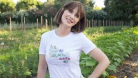 Deschanel (in Malibu on July 24) and her husband launched an ATTN series, Your Food's Roots, which explores food origins.