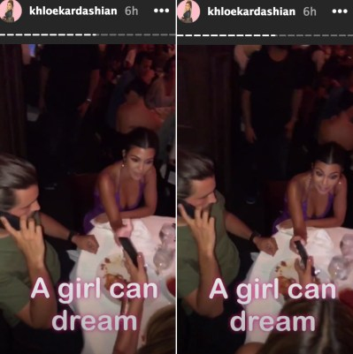 Scott Disick and Kourtney Kardashian at Kylie Jenner's Birthday party