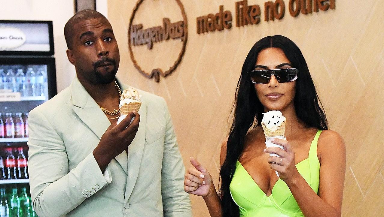 Kim Kardashian Kanye West 2 Chainz Wedding Ice Cream Date