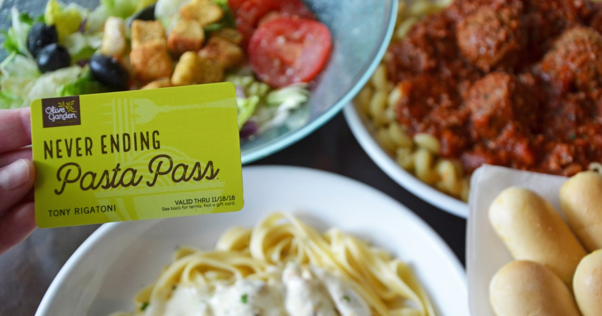 Olive garden launches year long pasta passes for Olive garden national pasta day
