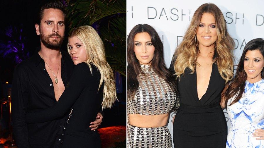 Sofia Richie, Scott Disick and the Kardashian sisters.
