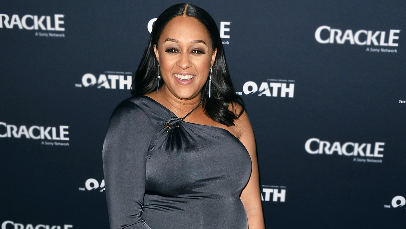 Tia Mowry at The Oath Premiere on March 07, 2018.