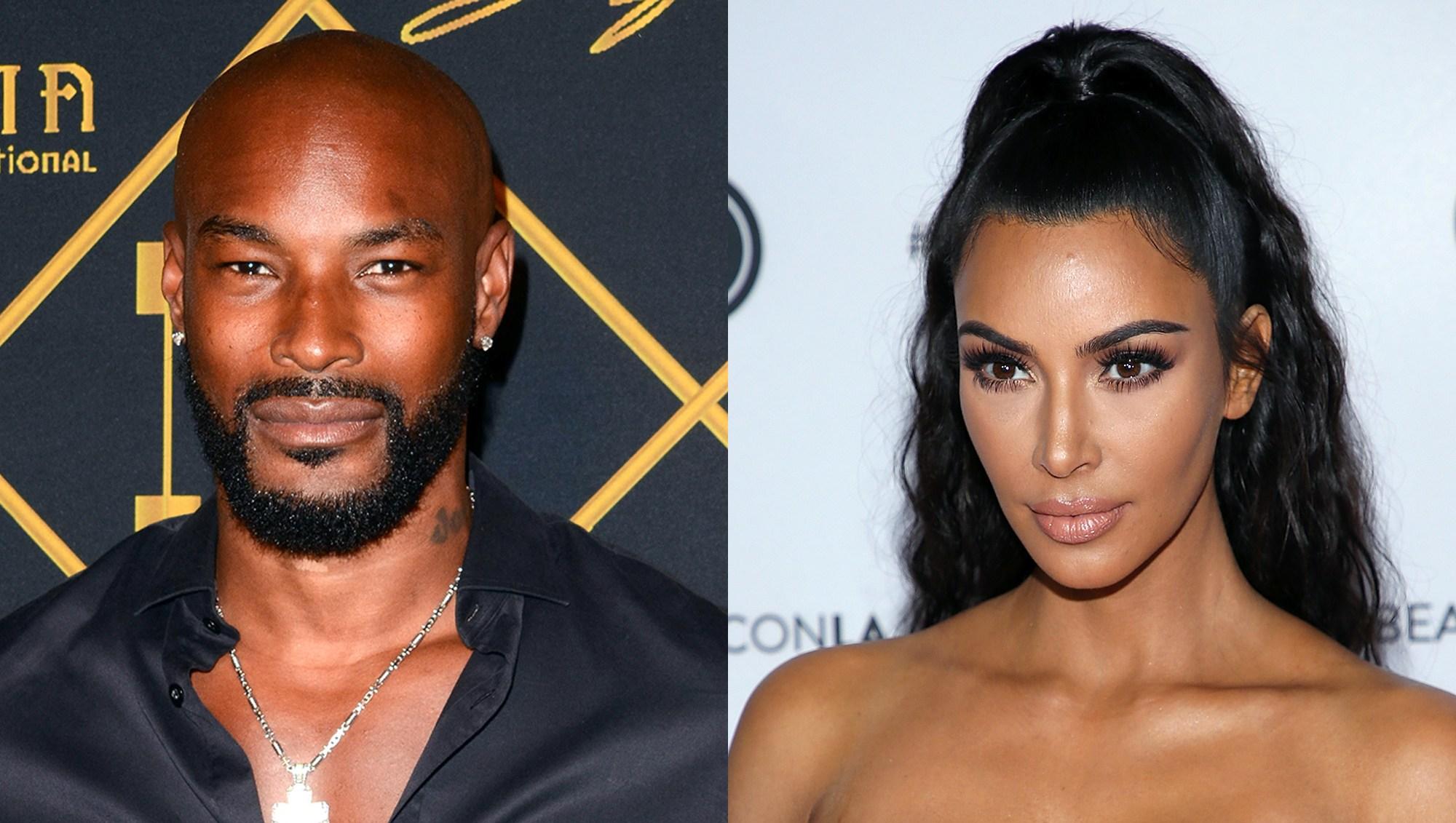 Tyson Beckford and Kim Kardashian.