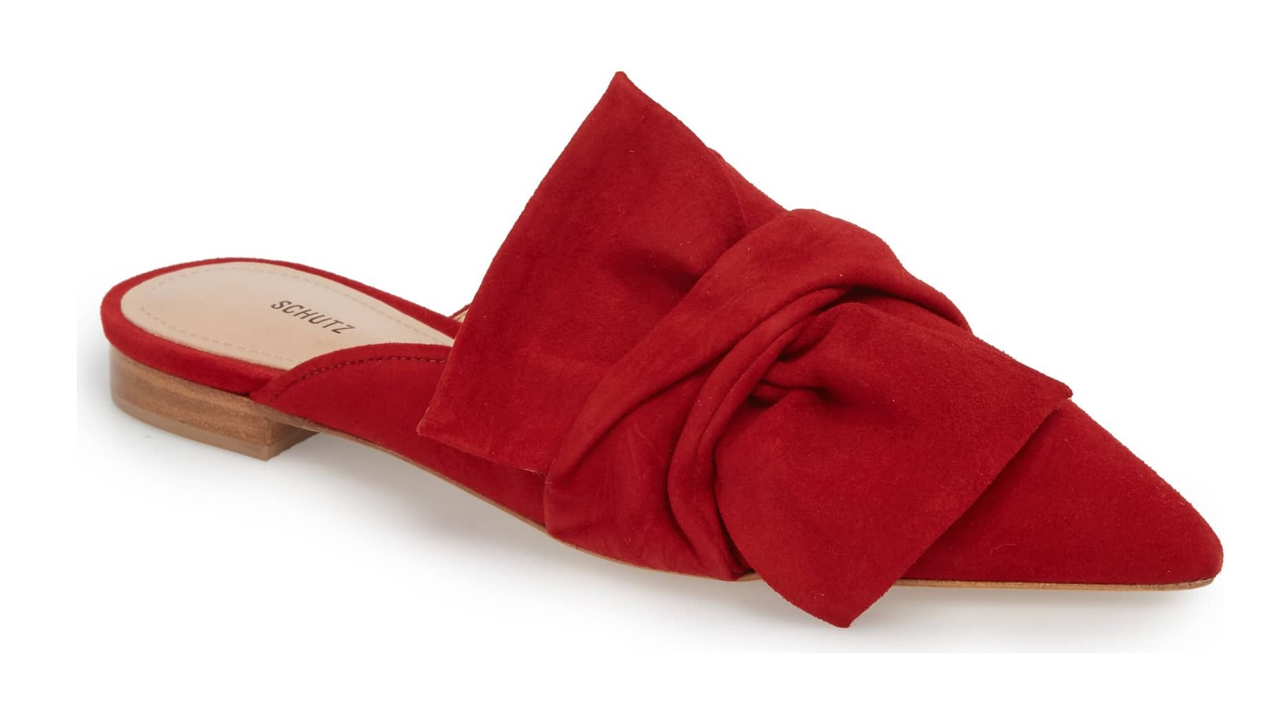 red schutz loafers
