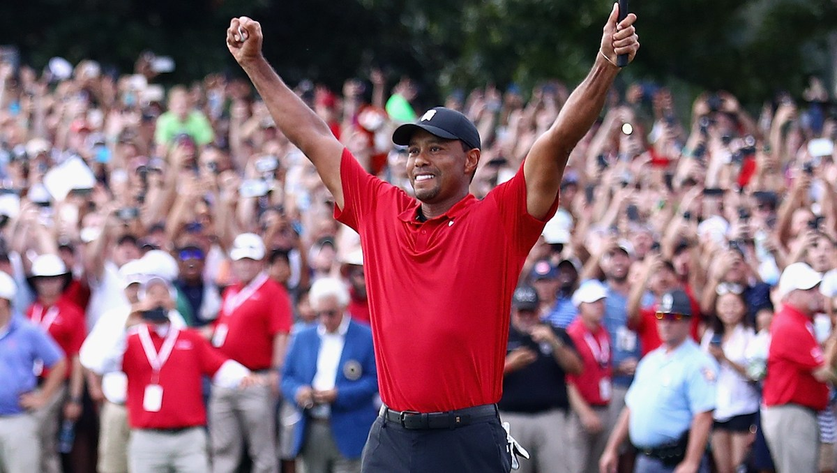 Tiger Woods wins first golf tournament in five years