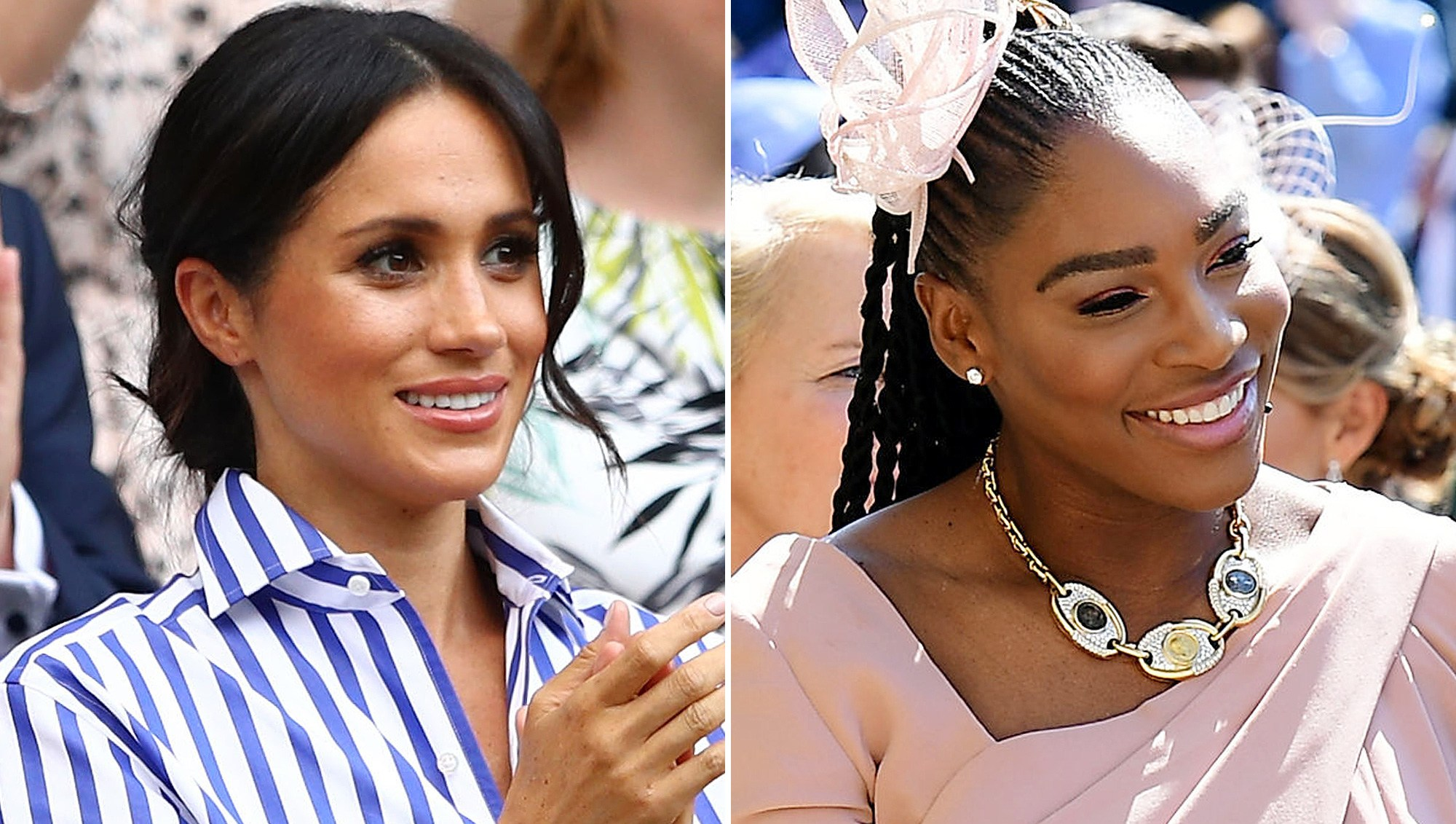 Meghan Markle, Serena Williams, Text, US Open