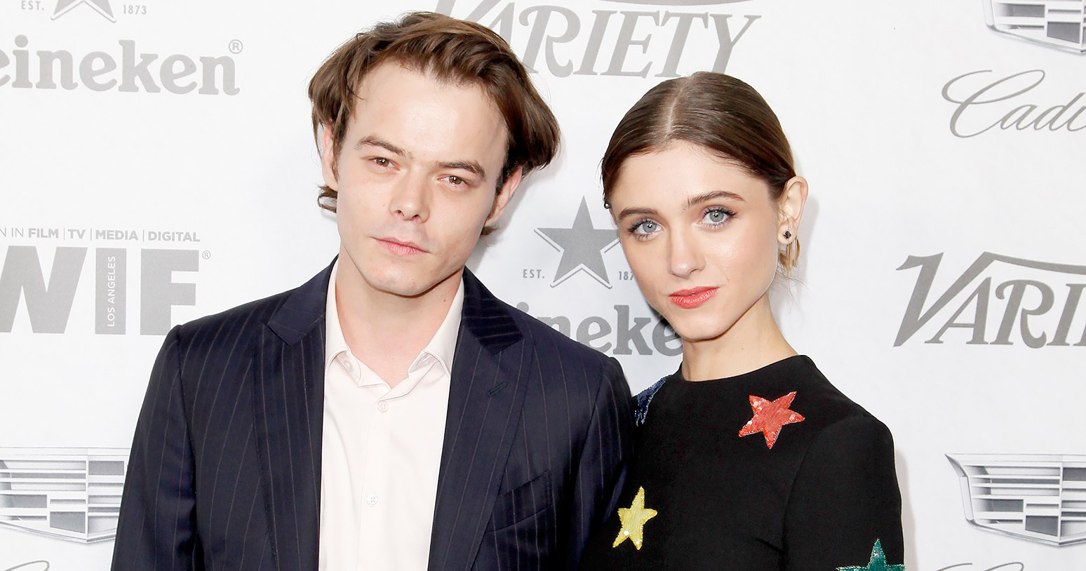 Stranger Things' Charlie Heaton and Natalia Dyer Show PDA at Pre-Emmys Parties