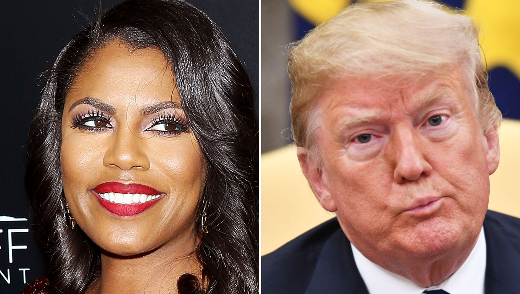 Omarosa Manigault Newman and President Donald Trump