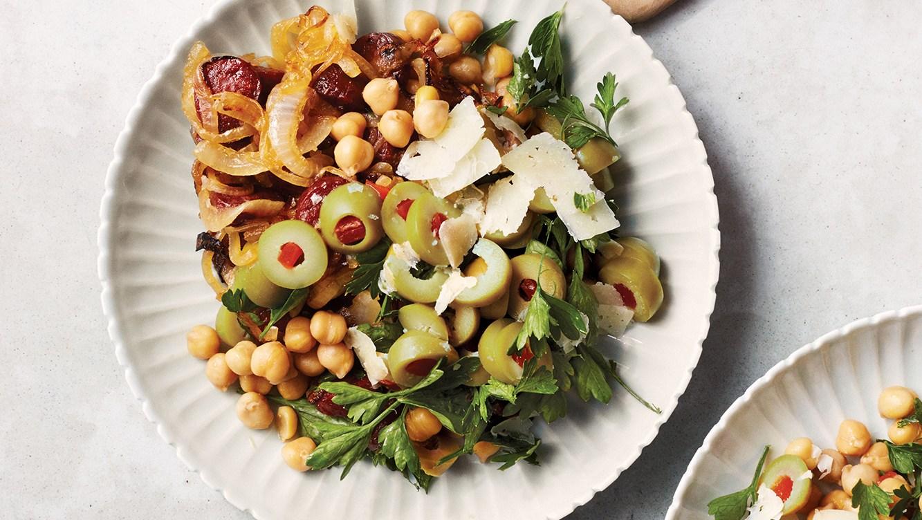 Martha Stewart's Chickpea, Chorizo Salad
