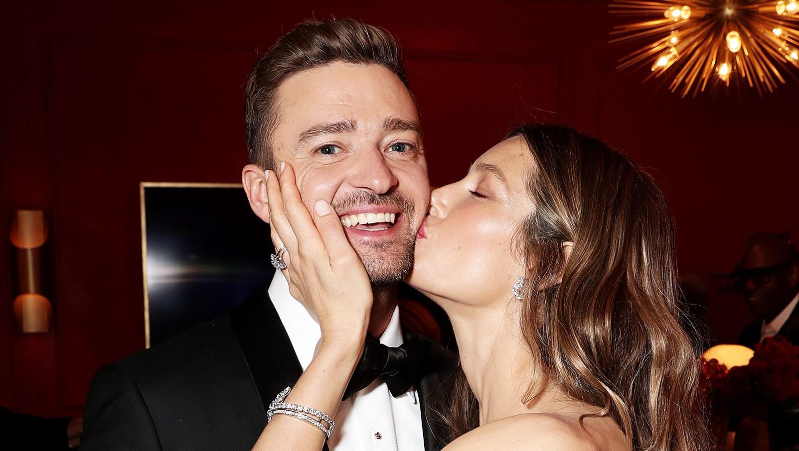 Justin Timberlake Jessica Biel Emmys 2018 Backstage