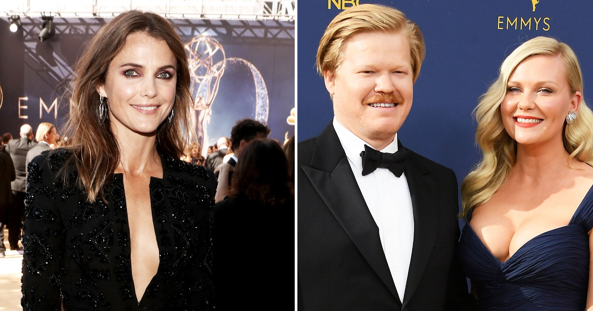 Keri Russell Shares a Bit of Wisdom With New Parents Kirsten Dunst and Jesse Plemons at the Emmy Awards