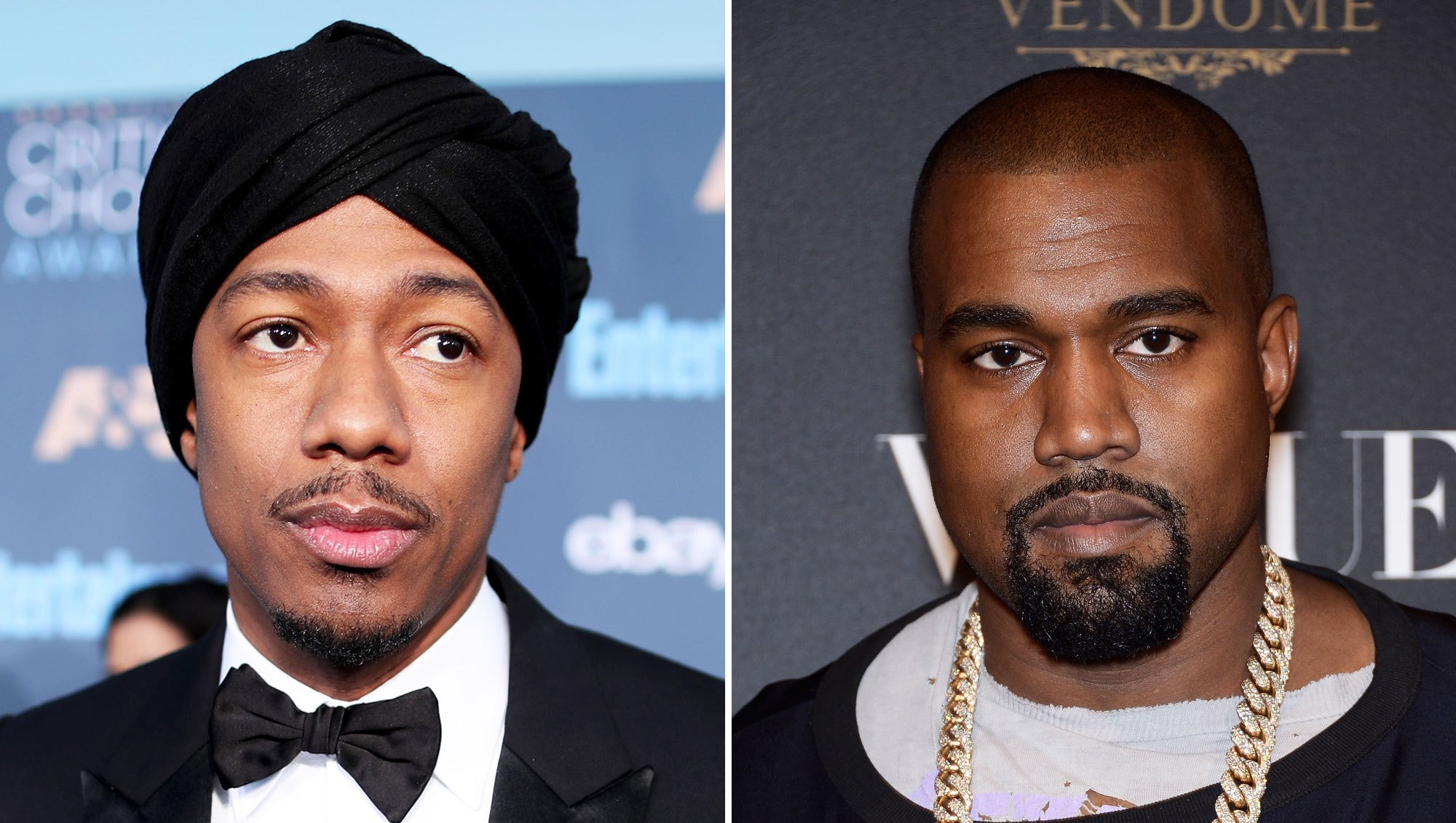 Nick Cannon and Kanye West