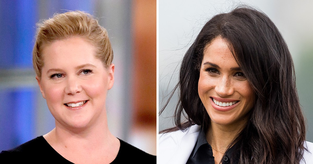 Pregnant Amy Schumer Jokes About 'Competing With' Duchess Meghan