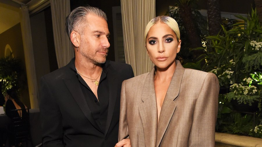 Christian Carino (L) and Lady Gaga