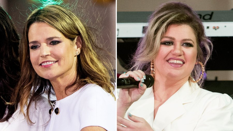 Savannah Guthrie and Kelly Clarkson