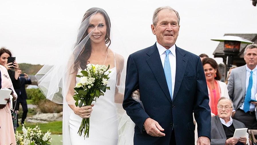 Barbara Bush Wears Custom Vera Wang Wedding Dress