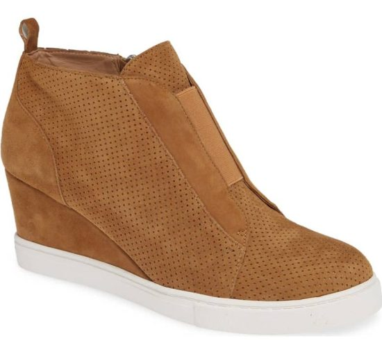 linea wedge heels toffee suede