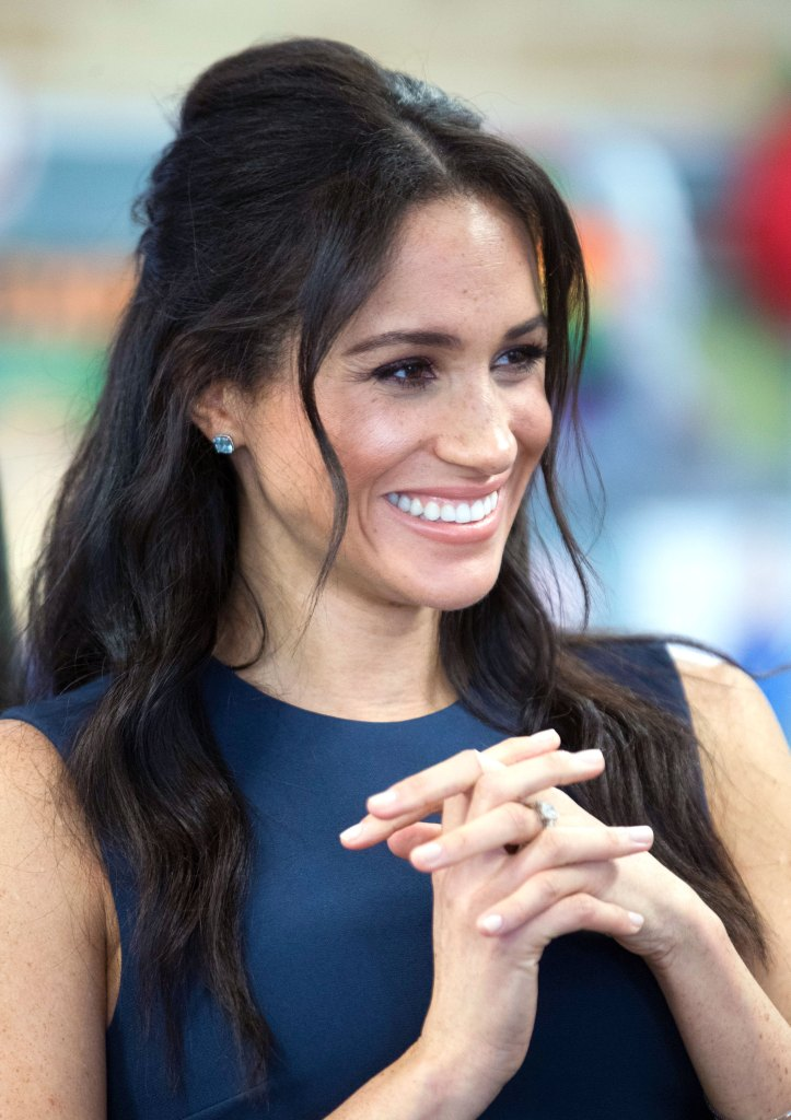 Meghan Markle's Half-Up Hairstyle in Australia: Pics