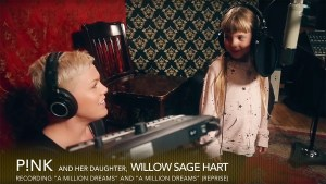 Pink and daughter Willow showman