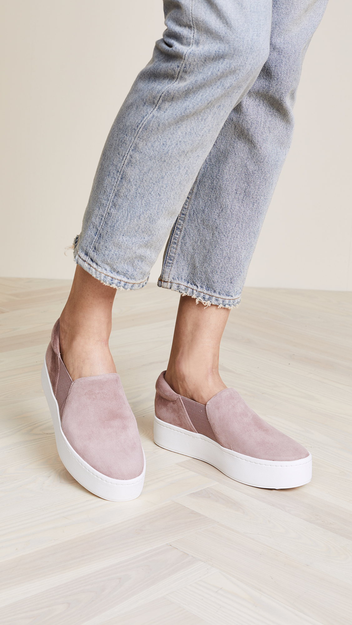 Shop These Suede Vince Slip-On Sneakers
