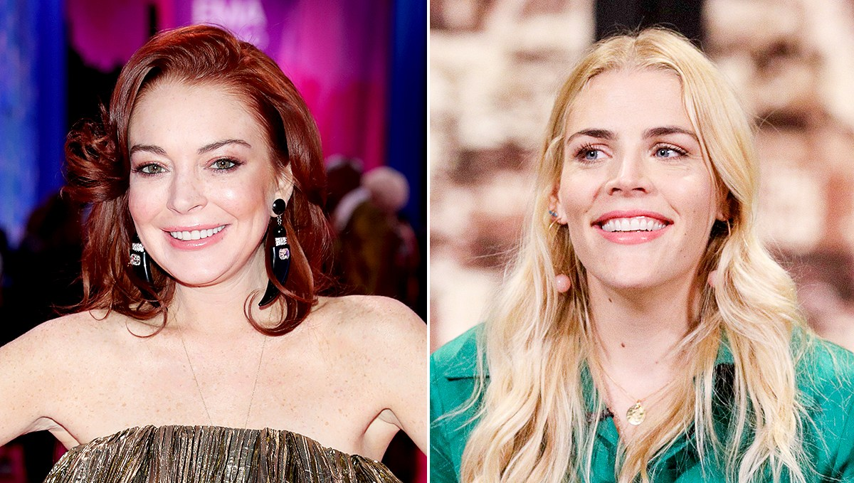 Lindsay Lohan and Busy Philipps