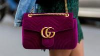 gucci bag pink velvet magenta velvet trend