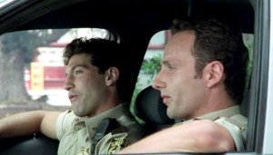 Shane and Rick on The Walking Dead