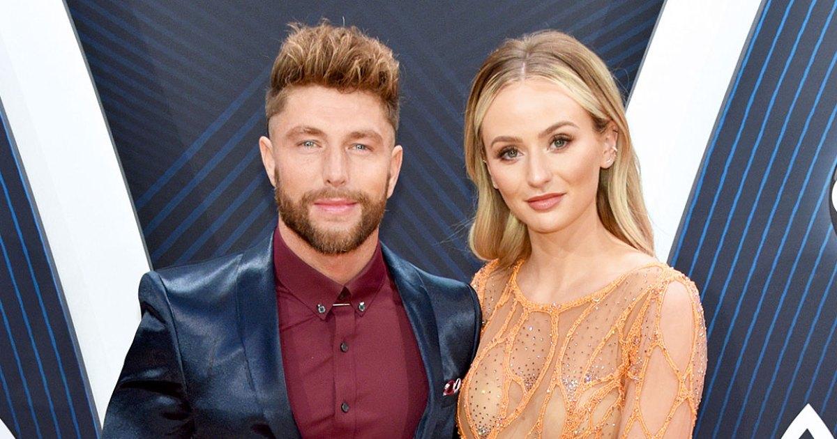 Lauren Bushnell, Boyfriend Chris Lane Attend the CMAs 2018