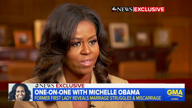 Michelle Obama Miscarriage Good Morning America