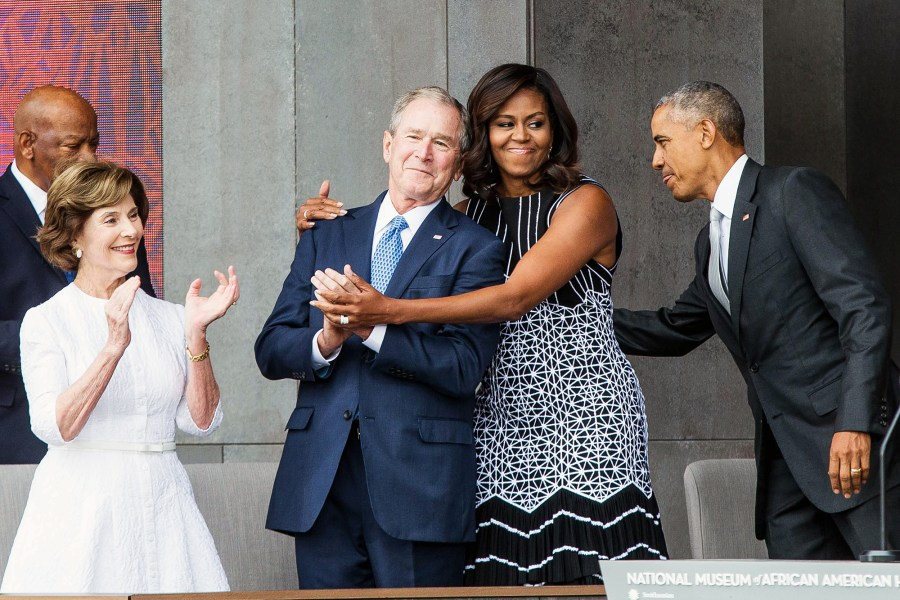 Michelle Obama George W. Bush Friendship